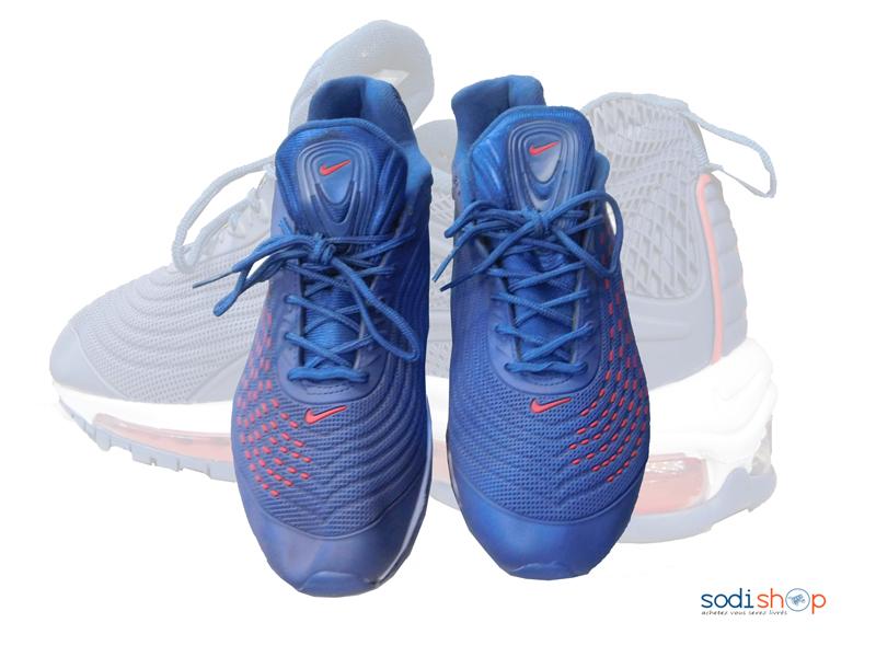 Chaussure Basket Nike Couleur Bleue –Rouge Pour Homme - SodiShop