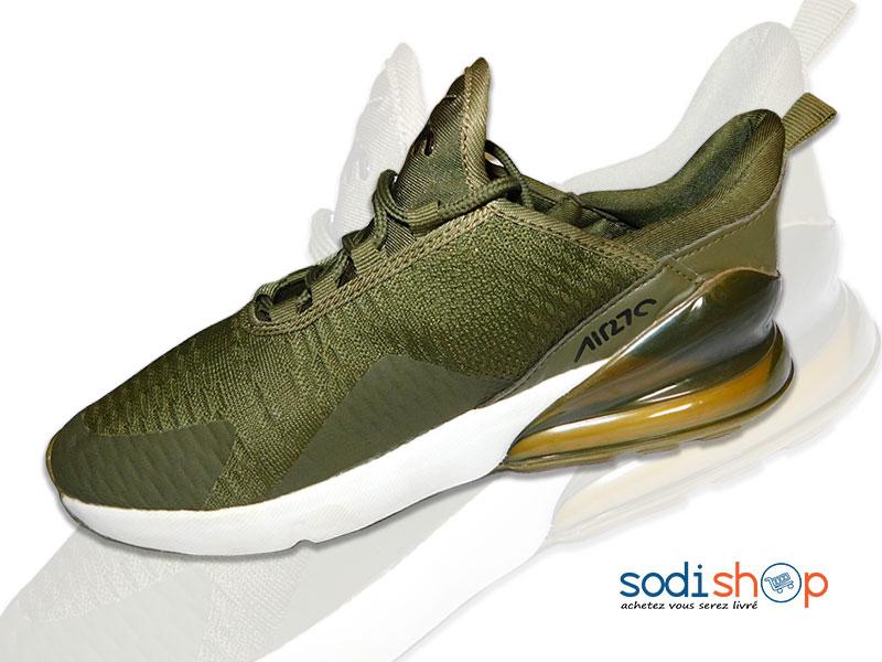 NIKE Air Max 270 Couleur Verte Chaussure Pour Homme MS0076 - SodiShop