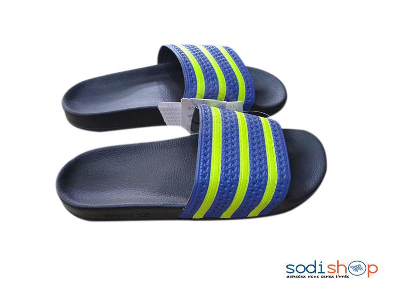 Chaussure Sandale Pour Homme en Caoutchouc Adidas Bleu/ Vert ...
