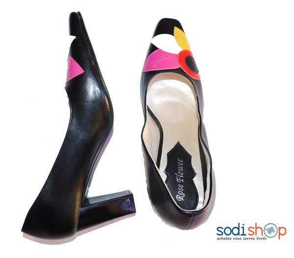 Femmes PU Talon stiletto Escarpins Plateforme Bout fermé avec Boucle chaussures (085128298)