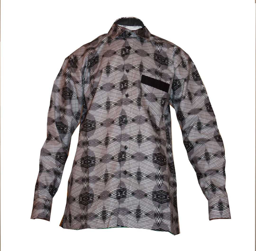 2c15411815 Chemise Homme en Woodin Noir et Blanc Taille L MJ0022 - SodiShop