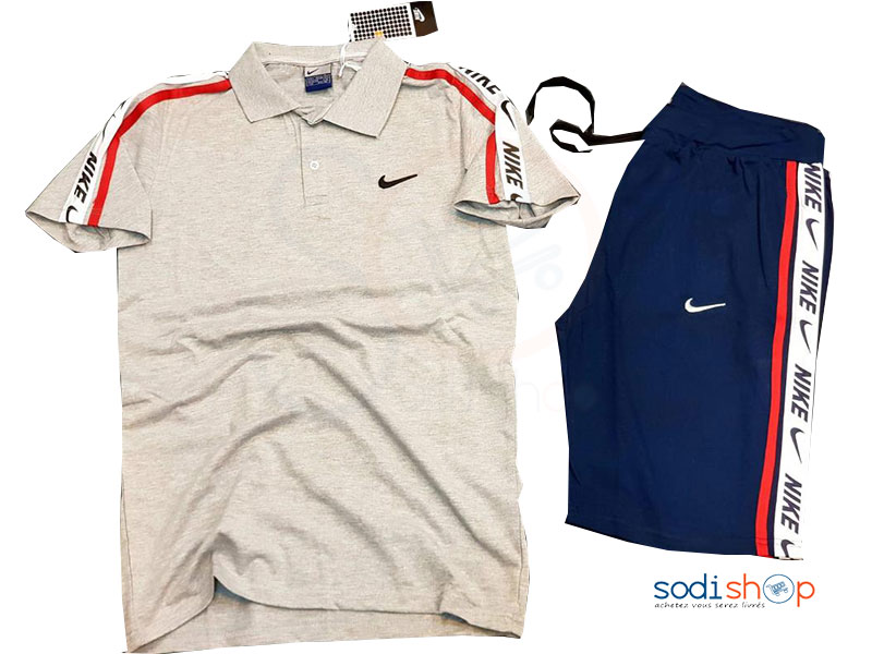 sells good look out for Jogging Complet Nike Polo Couleur Gris Bleu