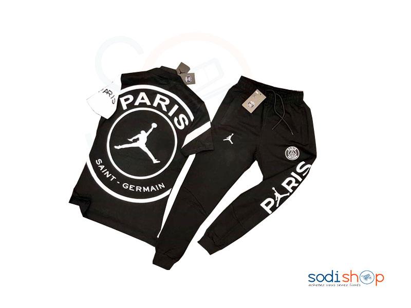 Ensemble de T Shirt + Pantalon Couleur Noir BO0019