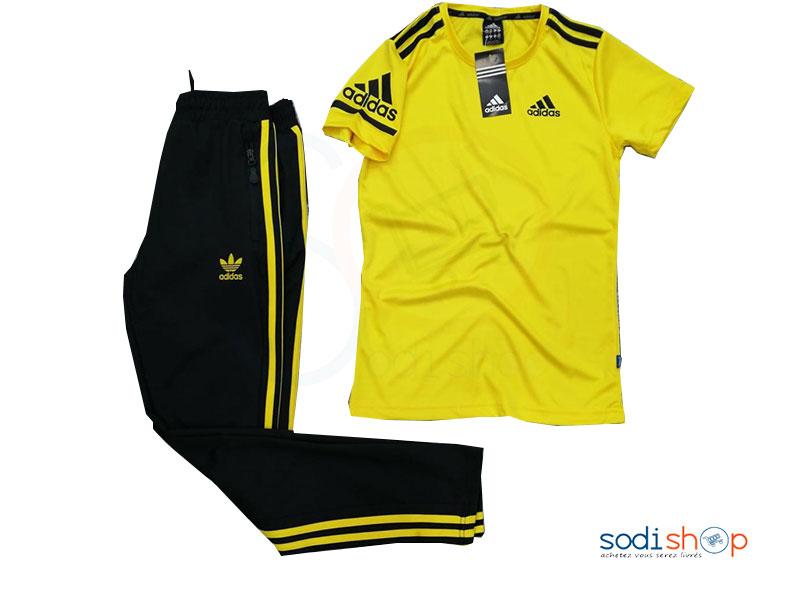 pantalon adidas jaune