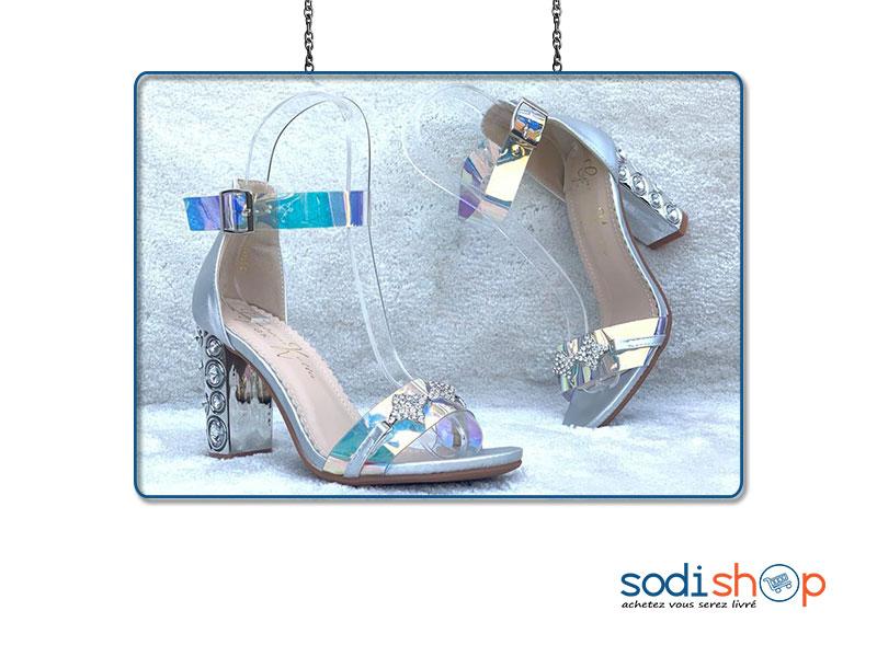 site réputé 3c86f 21397 Chaussure à Talons Golden Kella - Couleur argent, Pour Femme AU0059