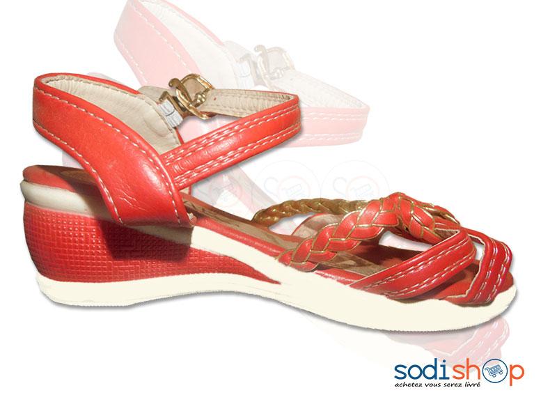 luxe prix limité collection entière Chaussure à Talon Pour Fillette Couleur Rouge / Blanche BT0073