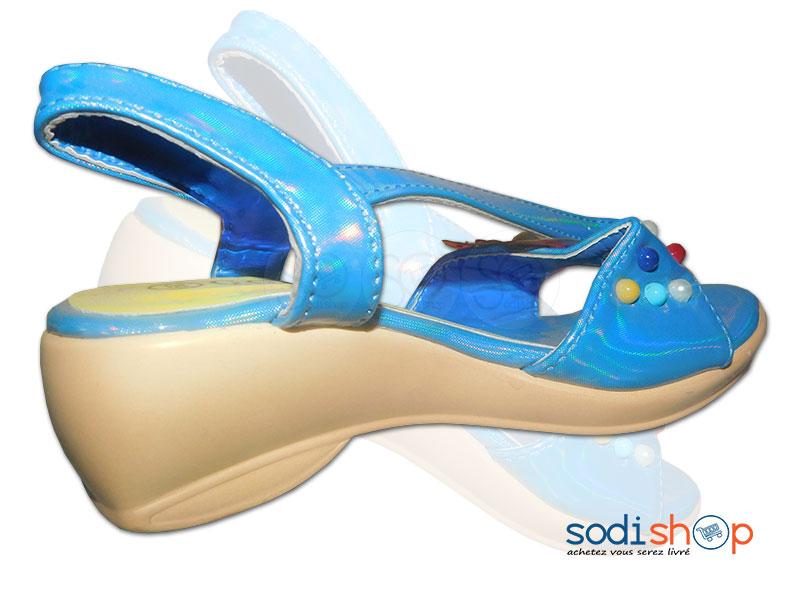 Fille Bleue Talon Petite Couleur Bt0073 À Pour Sandale Ybgyv7f6