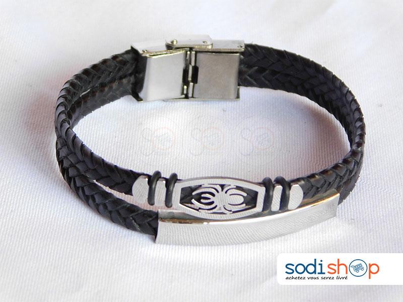 design exquis produit chaud complet dans les spécifications Bracelet Tressé, Logo Araignée, Unisexe Pour Homme et Femme - Taille  Ajustable, Couleur Noir SODI00