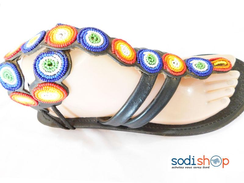En Chaussure AfricainHaute Qualité Couleur Noir Mt0077 PerleStyle Pour FemmeDécoration – Qrshdt