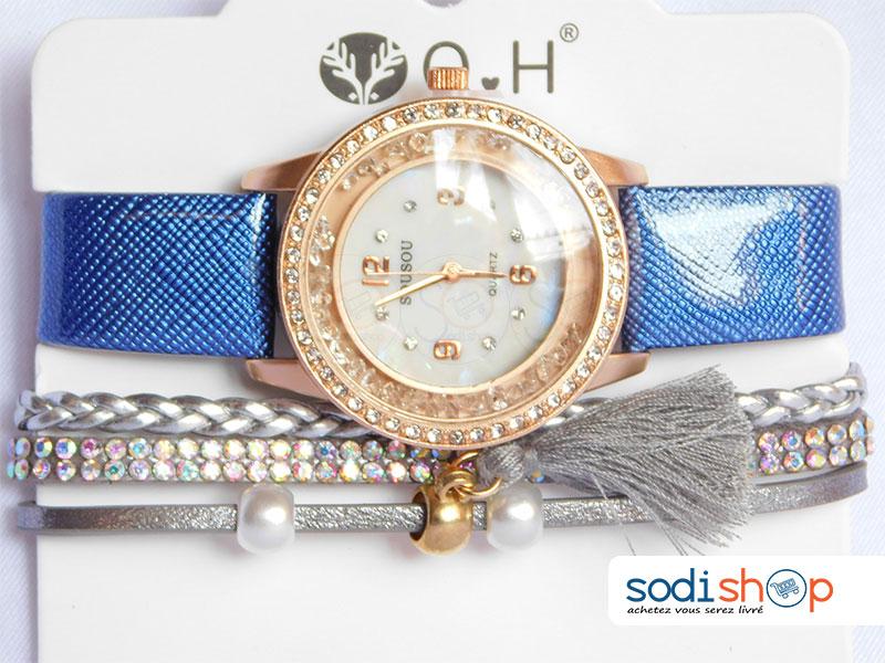 ensemble montre et bracelet femme