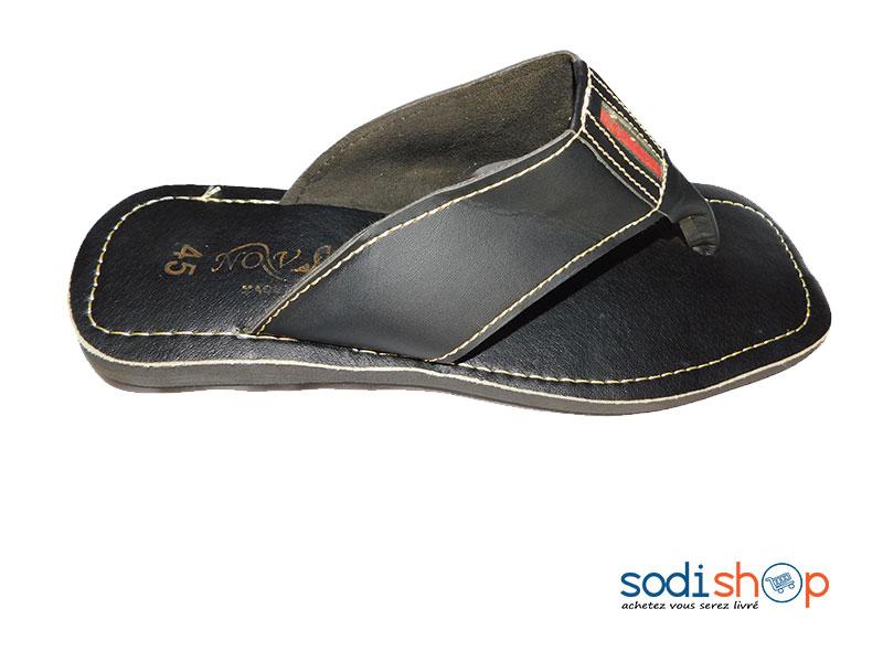 Sandale Couleur Pour Noire Ms0076 Homme xeQrCEdBWo