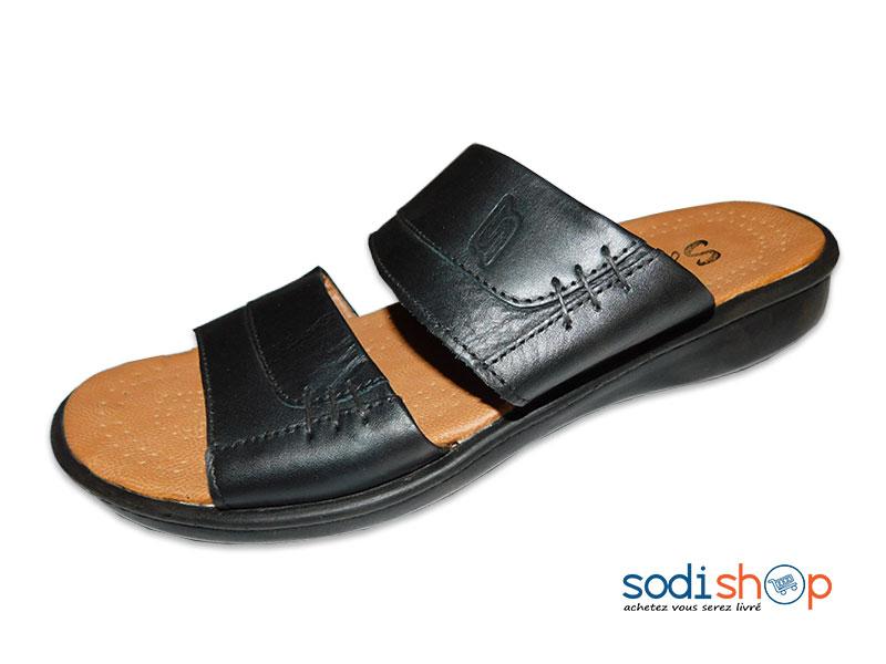 Sandale Chaussure Homme Pour Couleur Noire Ms0076 thdsQrC