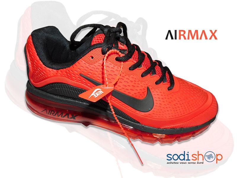 le dernier 21e6b 4e217 Chaussure de Sport Air Max Nike Couleur Noire Orange MS0076