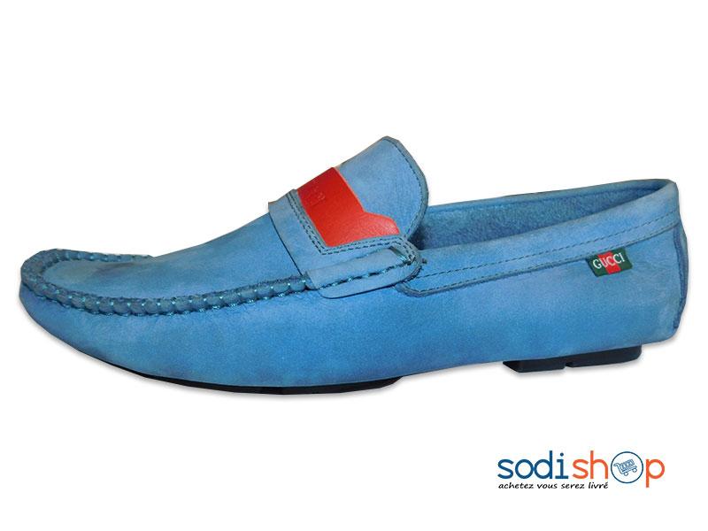 regarder bb5fa d8c2b Mocassin Gucci, Très Class pour Homme - Couleur Bleu MS0076