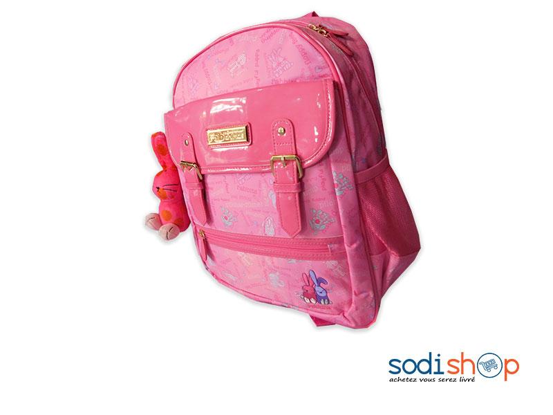 design intemporel e38bf 855e3 Sac à Dos Cartable Couleur Rose Pour Petite Fille SS0086