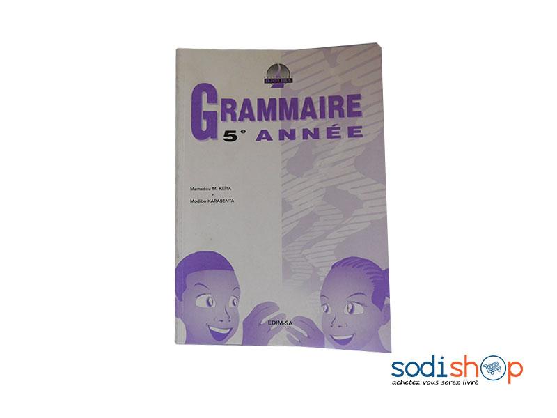 Livre De Grammaire 5eme Annee Collection Djoliba Lb0091