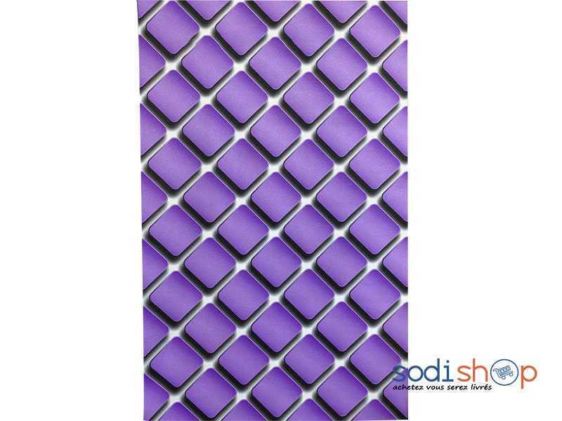 Papier Peint Decoratif Simulation Losange Couleur Violet Ak0028 Sodishop