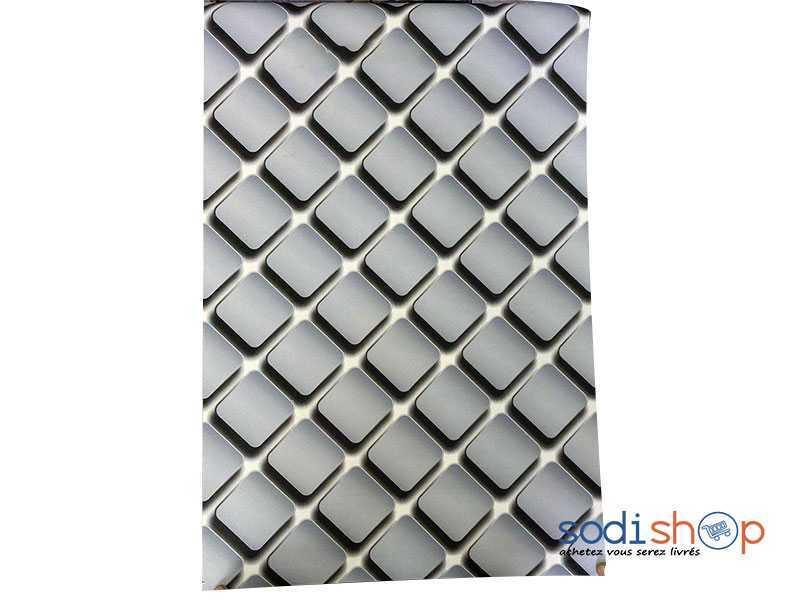 Papier Peint Decoratif Simulation Losange Couleur Gris Ak0028 Sodishop