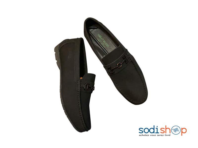 Mocassin En Cuir Great Model Chaussures Classiques Couleur Noir Pour Homme Ko00124 Sodishop